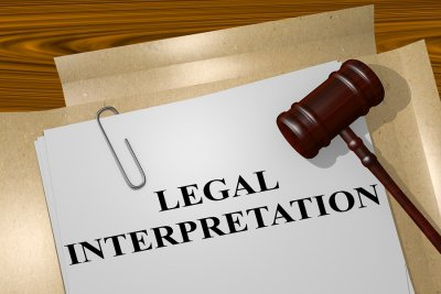 legal - interpretation